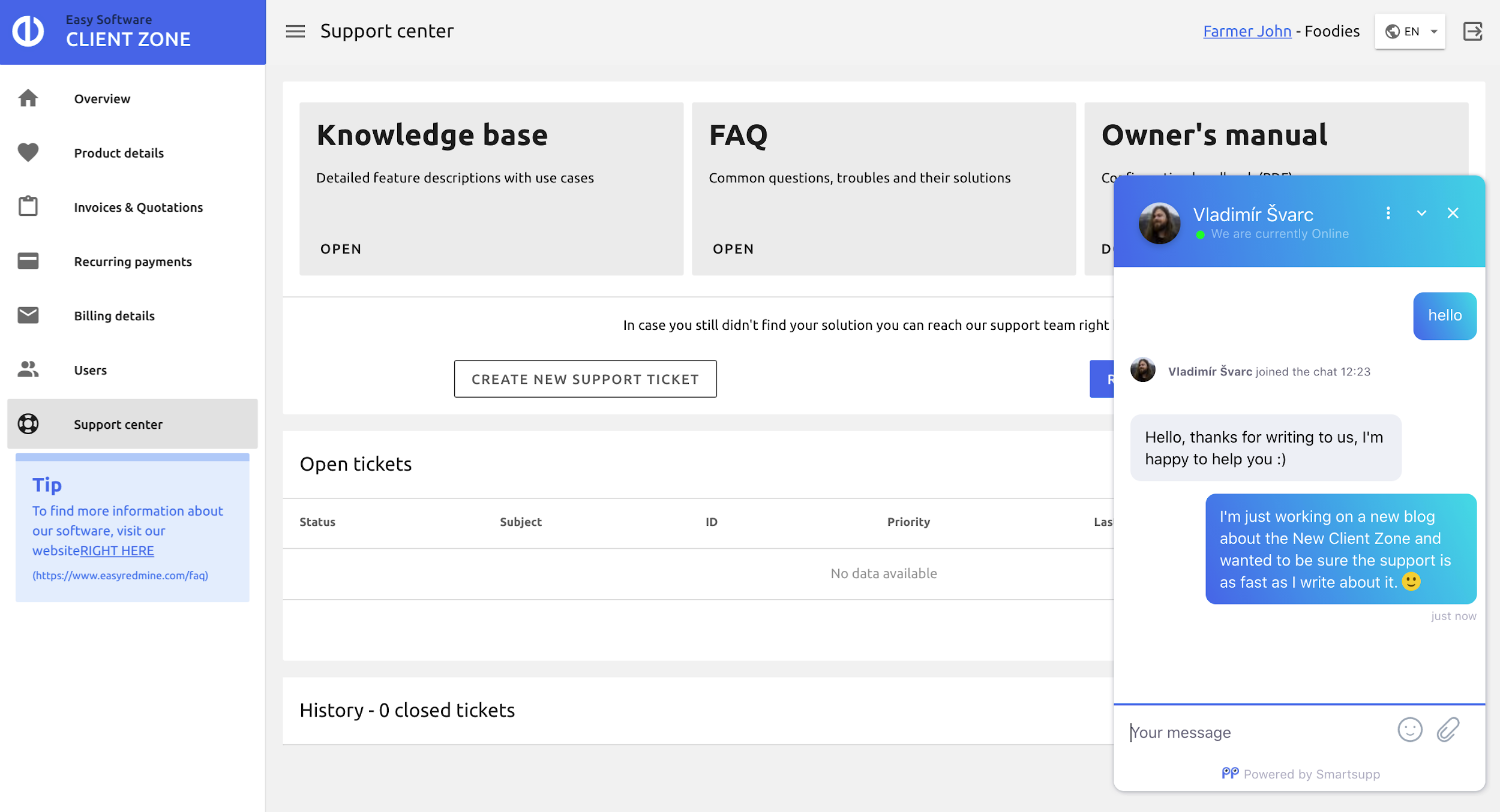 Welcome to the New Client Zone 2.0: See How You Will Smoothen Managing Your Easy Project Account